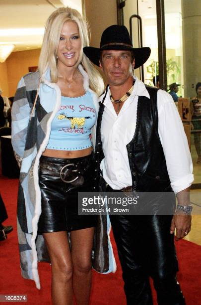 Actor John Clark Gable and his wife Lexe arrive at the Nineteenth Annual Golden Boot Awards August11 2001 in Beverly Hills CA