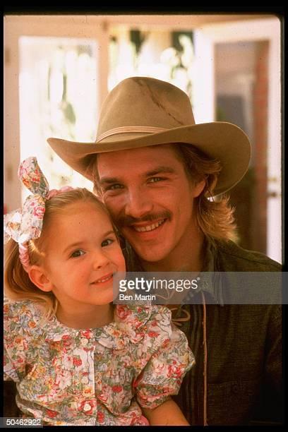 Actor John Clark Gable son of the late Clark Gable w his daughter Kayley