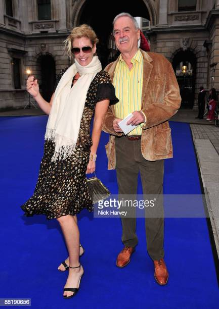 Actor John Cleese and actress Lisa Hogan attends the Summer Exhibition Preview Party 2009 at the Royal Academy of Arts on June 3 2009 in London...