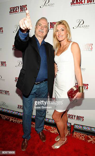 Actor John Cleese and his daughter Camilla Cleese arrive at the opening night celebration of the musical Jersey Boys at The Palazzo May 3 2008 in Las...