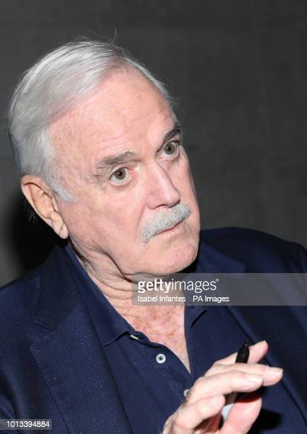 Actor John Cleese leaving BBC Broadcasting House in London after appearing on The One Show with his daughter Camilla Cleese