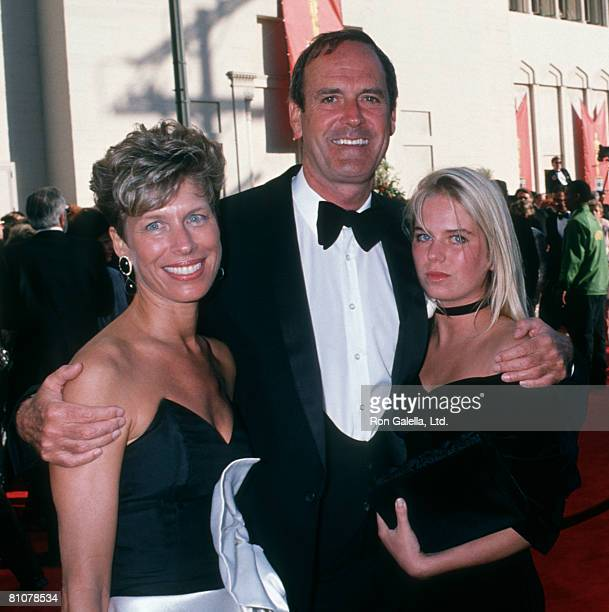 Actor John Cleese wife Barbara Trentham and daughter Camilla Cleese attending 61st Annual Academy Awards on March 29 1989 at Shrine Auditorium in Los...