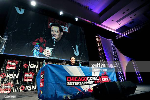 Actor John Cusack attends the 2012 Chicago Comic and Entertainment Expo at McCormick Place on April 15 2012 in Chicago Illinois