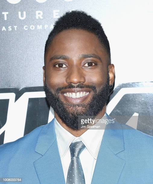 Actor John David Washington attends the 'BlacKkKlansman' New York premiere at Brooklyn Academy of Music on July 30 2018 in New York City