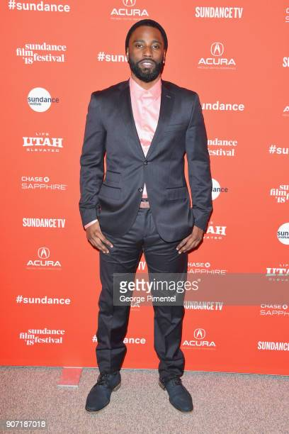 Actor John David Washington attends the Of Monsters and Men Premiere during the 2018 Sundance Film Festival at Eccles Center Theatre on January 19...
