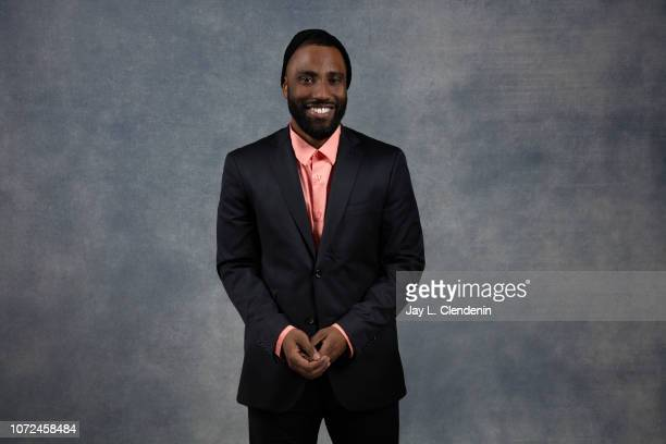 Actor John David Washington from Monsters and Men is photographed for Los Angeles Times on January 19 2018 in the LA Times Studio at Chase Sapphire...