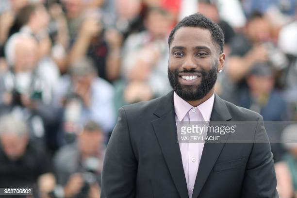US actor John David Washington poses on May 15 2018 during a photocall for the film BlacKkKlansman at the 71st edition of the Cannes Film Festival in...