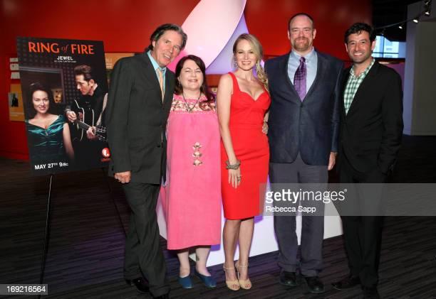 Actor John Doe, director Allison Anders, singer Jewel, writer John Carter Cash and Executive Vice President of Lifetime Television Robert Sharenow at...