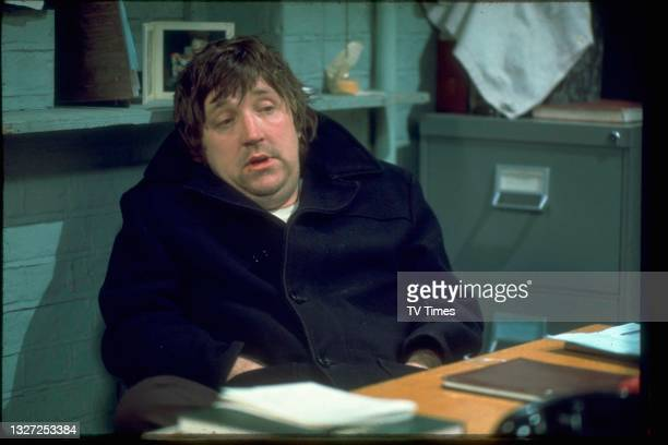 Actor John Forgeham in character as Jim Baines in television soap Crossroads, circa 1977.