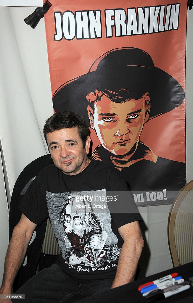 Actor John Franklin attends the 2014 Monsterpalooza: The Art Of Monsters Convention held at Marriott Airport Hotel on March 29, 2014 in Burbank, California.