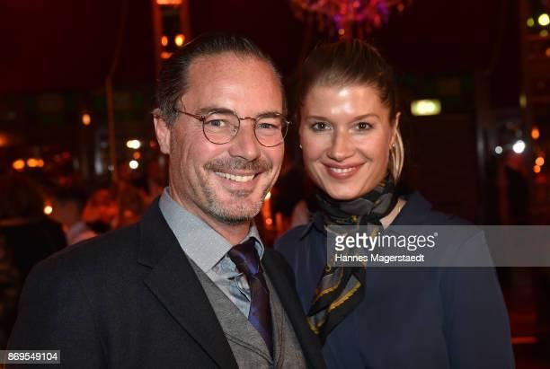 Actor John Friedmann and his partner Tini Fuchs during the 'Fantasia' VIP premiere of Schubecks Teatro at Spiegelzelt on November 2 2017 in Munich...