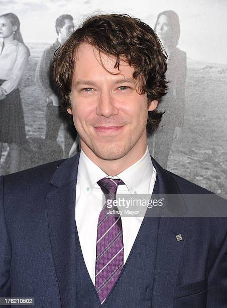 Actor John Gallagher arrives at the Los Angeles Season 2 Premiere Of HBO's Series 'The Newsroom' at Paramount Studios on July 10 2013 in Hollywood...