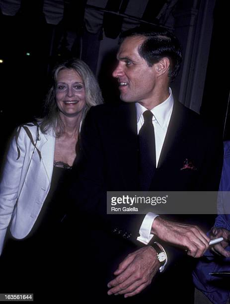 Actor John Gavin and actress Constance Powers attend the party for John Gavin on September 12, 1981 at Chasen's Restaurant in Beverly Hills,...