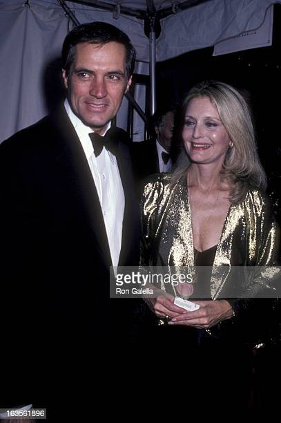 Actor John Gavin and actress Constance Towers attend A Gift Of Music Tribute Gala on April 25 1981 at Metromedia Square in Los Angeles California