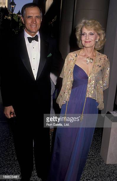Actor John Gavin and actress Constance Towers attend Fourth Annual Ambassador's Ball for Afghanistan on May 4, 1990 at the Beverly Wilshire Hotel in...