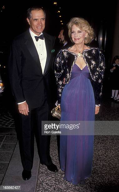 Actor John Gavin and actress Constance Towers attend Ireland Fund Gala Honoring Gene Kelly on november 8, 1990 at the Beverly Wilshire Hotel in...