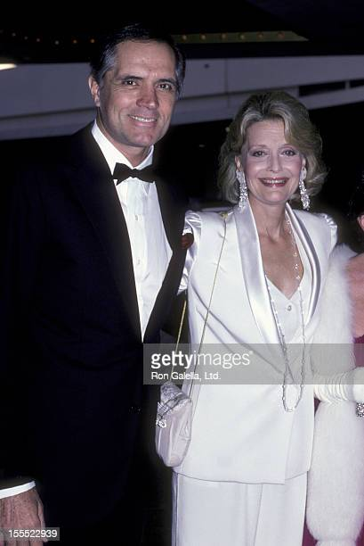 Actor John Gavin and actress Constance Towers attend the Army Ball on June 7 1986 at the Beverly Hilton Hotel in Beverly Hills California