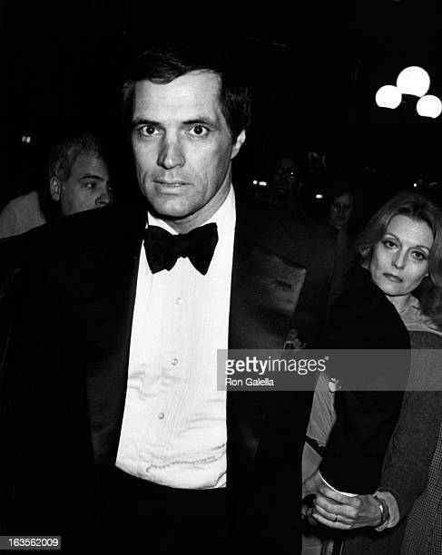 """Actor John Gavin and actress Constance Towers attend the premiere of """"F.I.S.T."""" on April 13, 1978 at Filmex in Century City, California."""