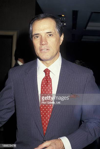 Actor John Gavin attends Conference of Personal Managers Press Conference on November 12, 1987 at the Century Plaza Hotel in Century City, California.