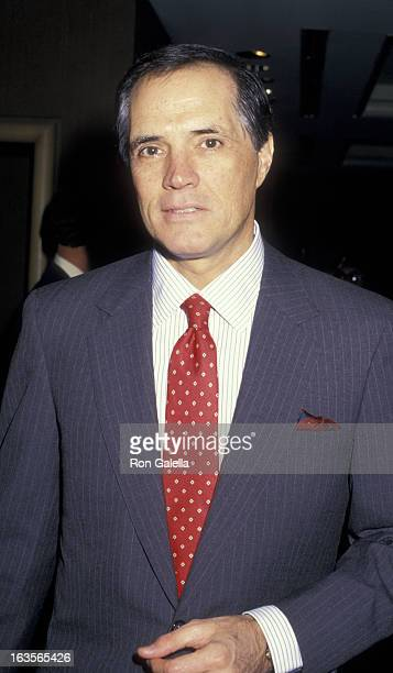 Actor John Gavin attends Conference of Personal Managers Press Conference on November 12 1987 at the Century Plaza Hotel in Century City California