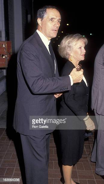 Actor John Gavin attends the party for Douglas-Holyfield Boxing Match on October 25, 1990 at Chasen's Restaurant in Beverly Hills, California.