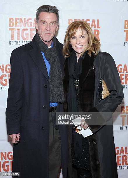 Actor John Glover and actress Brynn Thayer attend the opening night of Bengal Tiger At The Baghdad Zoo at the Richard Rodgers Theatre on March 31...
