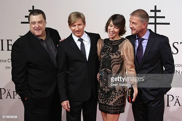 Actor John Goodman actor David Wenham actress Johanna Wokalek and director Soenke Wortmann attend the world premiere of 'Pope Joan' at the Sony...