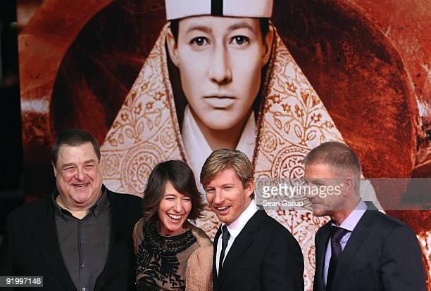 Actor John Goodman actress Johanna Wokalek actor David Wenham and Soenke Wortmann attend the world premiere of 'Pope Joan' at the Sony Center...