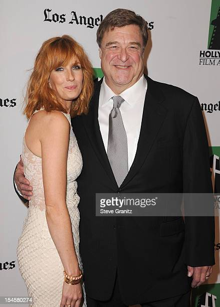 Actor John Goodman and actress Kelly Reilly arrives at the 16th Annual Hollywood Film Awards Gala presented by The Los Angeles Times held at The...