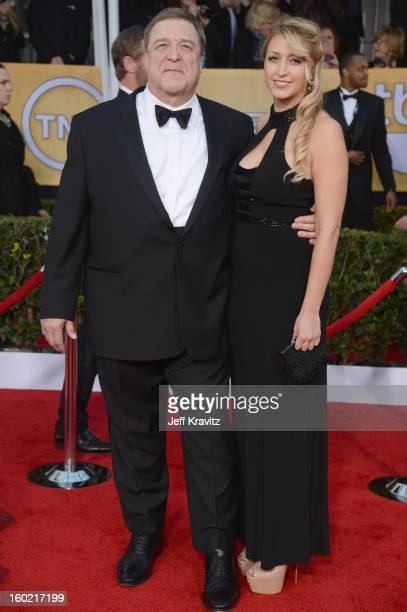 Actor John Goodman and Annabeth Hartzog arrive at the 19th Annual Screen Actors Guild Awards held at The Shrine Auditorium on January 27, 2013 in Los...