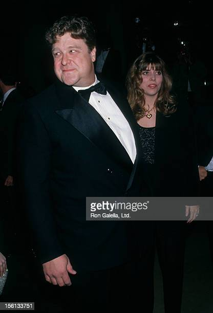 Actor John Goodman and Annabeth Hartzog attending 50th Annual Golden Globe Awards on January 23 1993 at the Beverly Hilton Hotel in Beverly Hills...