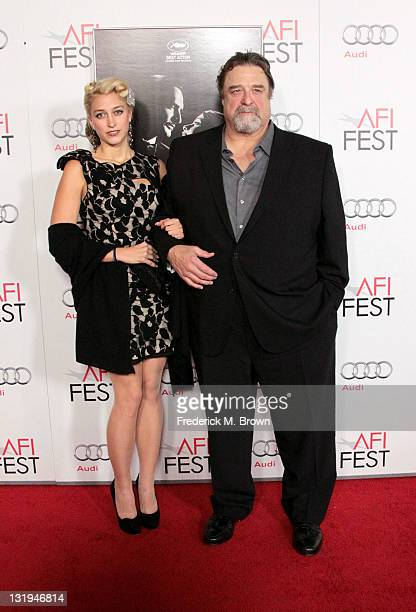 Actor John Goodman and daughter Molly Evangeline arrive at The Artist Special Screening during AFI FEST 2011 presented by Audi on November 8 2011 in...