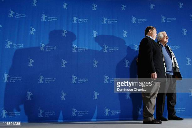 Actor John Goodman and director Bertrand Tavernier attend the In The Electric Mist photocall during the 59th Berlin International Film Festival at...