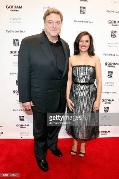 Actor John Goodman and Executive Director of IFP and the Made in NY Media Center Joana Vicente attend IFP's 23nd Annual Gotham Independent Film...