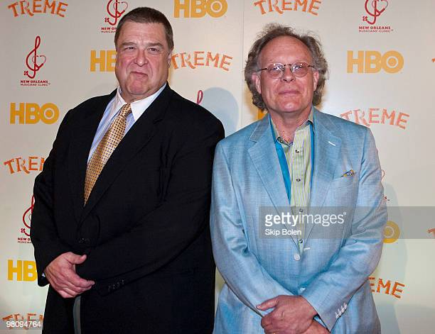 Actor John Goodman and Executive Producer Eric Overmyer attends HBO's series ''Treme'' New Orleans fundraiser at Generations Hall on March 27, 2010...