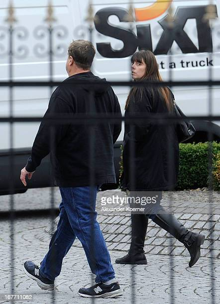 Actor John Goodman and his wife Annabeth Hartzog are seen in front of his Hotel on April 28 2013 in Ilsenburg near Goslar Germany Actor and direcor...