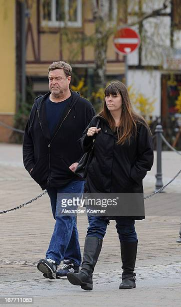 Actor John Goodman and his wife Annabeth Hartzog are seen walking through the city of Ilsenburg on April 28 2013 in Ilsenburg near Goslar Germany...