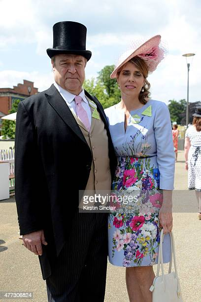 Actor John Goodman and his wife Annabeth Hartzog attend Royal Ascot 2015 at Ascot racecourse on June 16 2015 in Ascot England