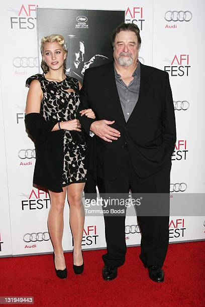 Actor John Goodman and Molly Evangeline attend the AFI FEST 2011 special screening of The Artist held at the Grauman's Chinese Theatre on November 8...