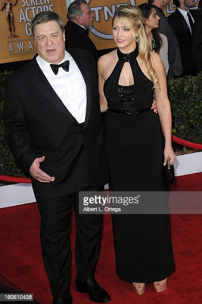 Actor John Goodman and Molly Evangeline Goodman arrive for the 19th Annual Screen Actors Guild Awards Arrivals held at The Shrine Auditorium on...