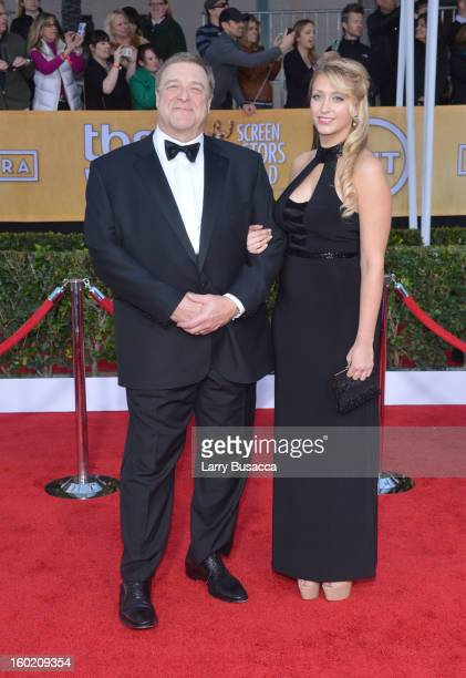 Actor John Goodman and Molly Evangeline Goodman attend the 19th Annual Screen Actors Guild Awards at The Shrine Auditorium on January 27 2013 in Los...