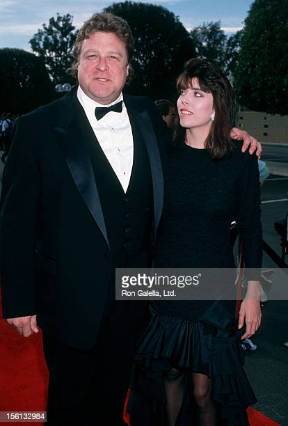Actor John Goodman and wife Annabeth Hartzog attending 15th Annual People's Choice Awards on March 12 1989 at Disney Studios in Burbank California