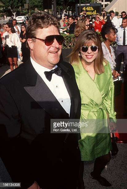 Actor John Goodman and wife Annabeth Hartzog attending 44th Annual Primetime Emmy Awards on August 30 1992 at Pasadena Civic Auditorium in Pasadena...