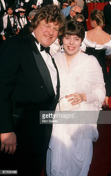 Actor John Goodman and wife Annabeth Hartzog attending 62nd Annual Academy Awards on March 26 1990 at the Dorothy Chandler Pavilion in Los Angeles...