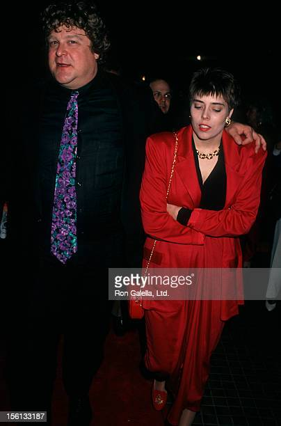 Actor John Goodman and wife Annabeth Hartzog attending the premiere of 'Stella' on January 31 1991 at the Westwood Avco Theater in Westwood California
