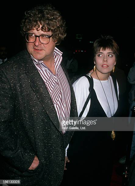 Actor John Goodman and wife Annabeth Hartzog attending the premiere of 'Joe vs the Volcano' on March 7 1990 at Mann Regent Theater in Los Angeles...