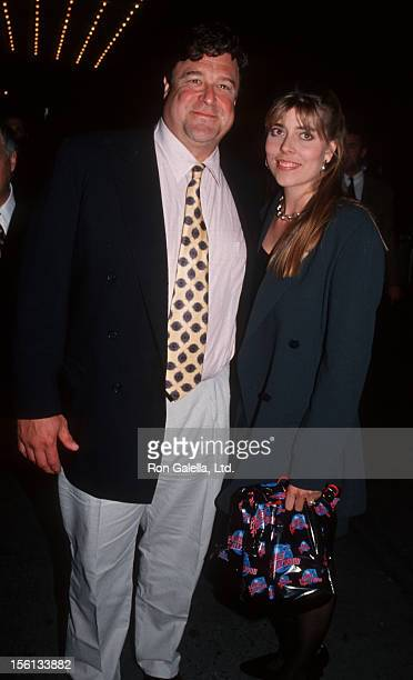 Actor John Goodman and wife Annabeth Hartzog attending the premiere of 'The Flintstones' on May 23 1994 at the Ziegfeld Theater in New York City New...