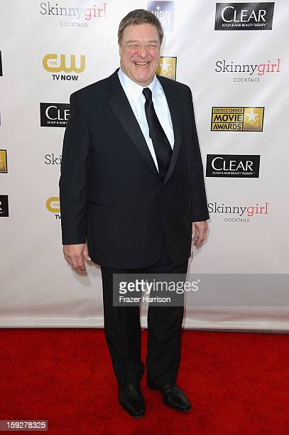 Actor John Goodman arrives at the 18th Annual Critics' Choice Movie Awards at Barker Hangar on January 10 2013 in Santa Monica California