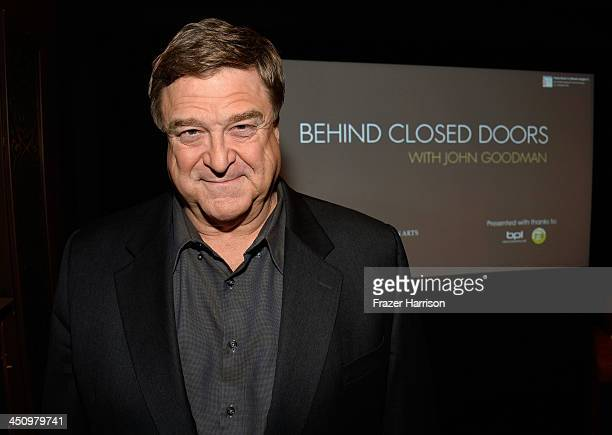 Actor John Goodman attends BAFTA LA Behind Closed Doors With John Goodman at the Chaplin Theater at Raleigh Studios on November 20 2013 in Hollywood...