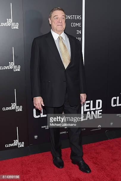 Actor John Goodman attends the '10 Cloverfield Lane' New York premiere at AMC Loews Lincoln Square 13 theater on March 8 2016 in New York City